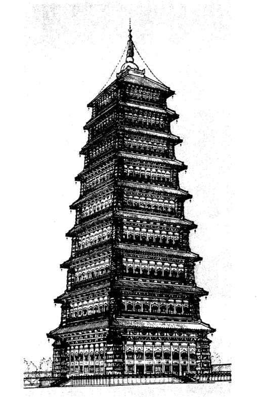 Tallest_Man-Made_Buildings_Ancient_Yongning_Pagoda_1
