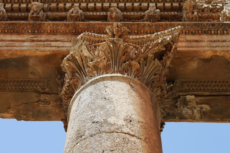 Capital of Jupiter temple in Baalbek