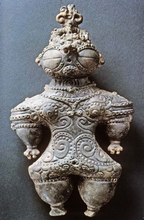 "Jōmon dogū (""earthenware figure"") figurine, circa 1,000–300 BC."