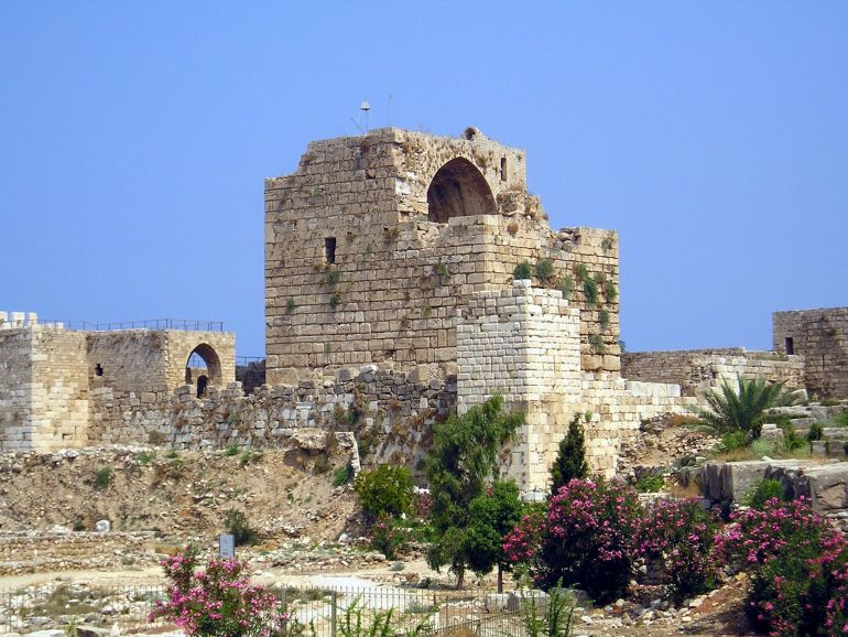 Ruins of the fief of Gibelet (modern Byblos).