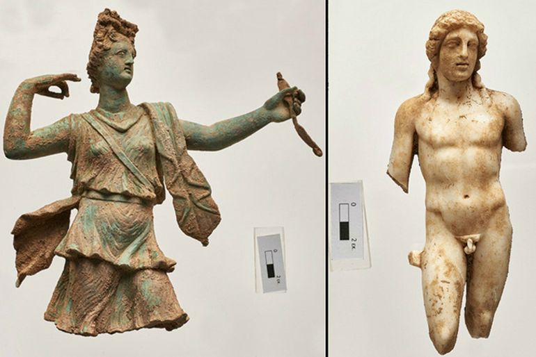 Copper And Marble Statues Of Greek Gods Found In Crete