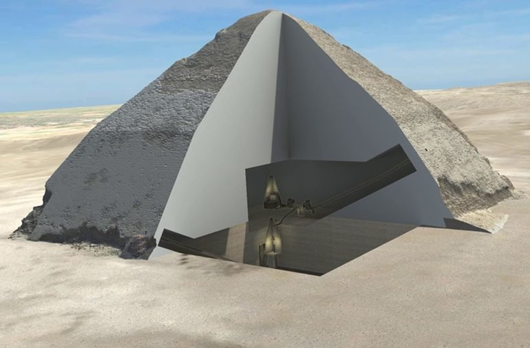 ancient egyptian pyramid interior revealedmuon particles