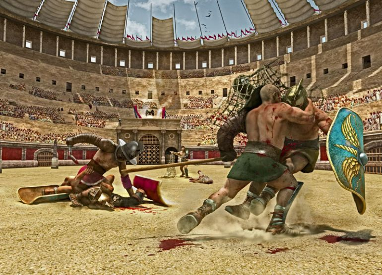 a history of gladiatorial contests in the roman empire Author alan baker takes a look at what's been called history's most violent game: the gladiatorial  dominated the roman empire, gladiatorial contests came.