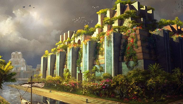 Image result for Images of the hanging gardens of Babylon