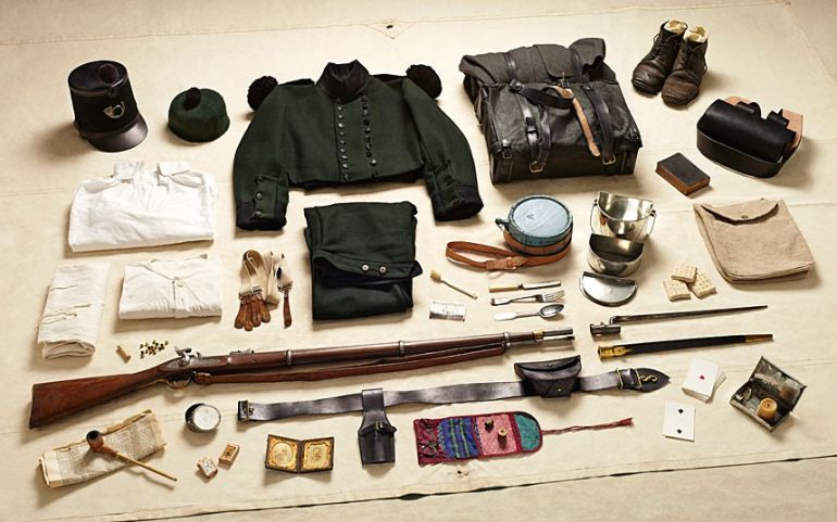 Rifle-Brigade-gear-Battle-of-Alma-1854