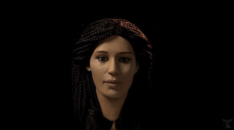 Ancient Egyptian Woman's Face Reconstructed From A Mummified Head