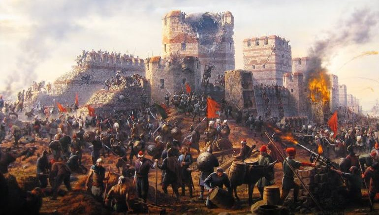Image result for fall of constantinople 1453