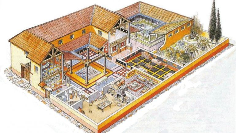 Intricate mosaic and underfloor heating among features for for Roman style home design