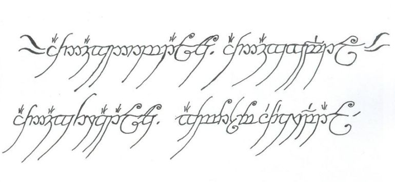 One Ring Of Power Inscription Read By Tolkian